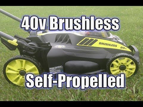 "RYOBI 40V 20"" Self Propelled Lawn Mower Review   RY40190"