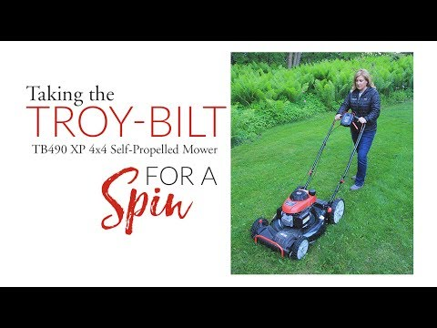 Taking the Troy-Bilt 4x4 mower for a spin