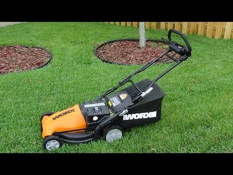 WORX WG788 19-Inch 36 Volt Cordless 3-In-1 Lawn Mower With Removable Battery & IntelliCut