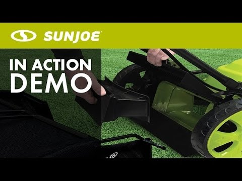 MJ408E - Sun Joe Mow Joe 20-Inch 12-Amp Electric Lawn Mower - Live Demo