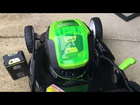 Review Greenworks PRO 21 Inch 80V Cordless Lawn Mower, Battery Not Included GLM801600