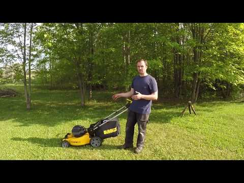 Dewalt 2x20V Cordless Lawn Mower In Action Review DCMW220