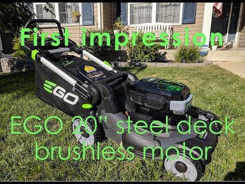 "EGO 20"" Brushless 56V Push mower review (first impression)"