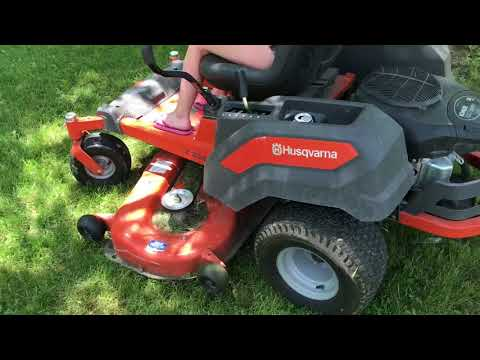 My Husqvarna Z254 zero turn mower at 200 hrs.