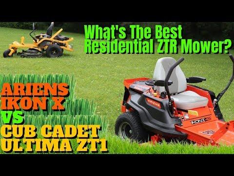 Best Residential Zero Turn Lawn Mower | Ariens IKON X vs Cub Cadet ULTIMA ZT1