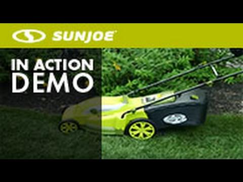 MJ403E - Sun Joe 17-Inch 13-Amp Electric Lawn Mower/Mulcher - Live Demo