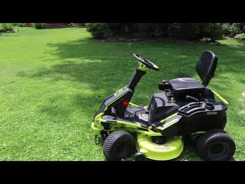 Ryobi Electric Riding Lawnmower Update