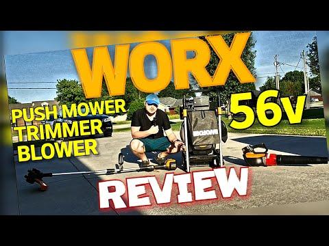 WORX 56v Push Mower, Trimmer & Blower REVIEW