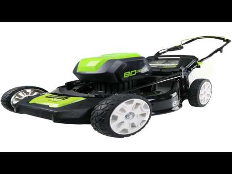 GreenWorks GLM801600 80V 21 Inch Cordless Lawn Mower Battery and Charger No