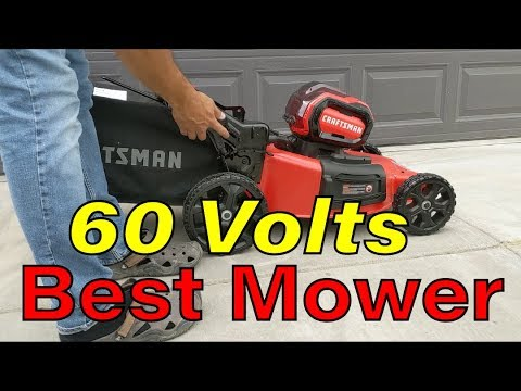 The Best Electric Mower - The Craftsman v60