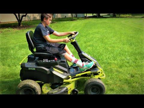 RYOBI Electric Riding Lawn Mower Review
